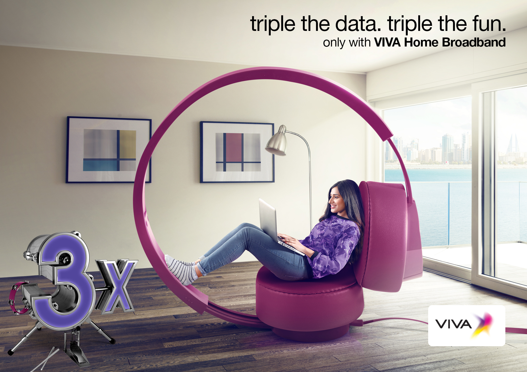 Triple Data With Viva Home Broadband Plans